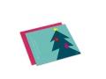 Juego de tarjetas Bajo un tejado nevado, en Navidad